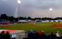 Lightning over Dwyer Stadium